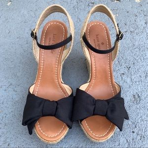 Kate Spade Bow-Accented Wedge Sandals